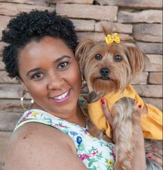 April Rose Blake, founder of My Swanky Pooch - A Luxury Pet Spawtique, and Lola Jae, My Swanky Pooch's brand ambassador.